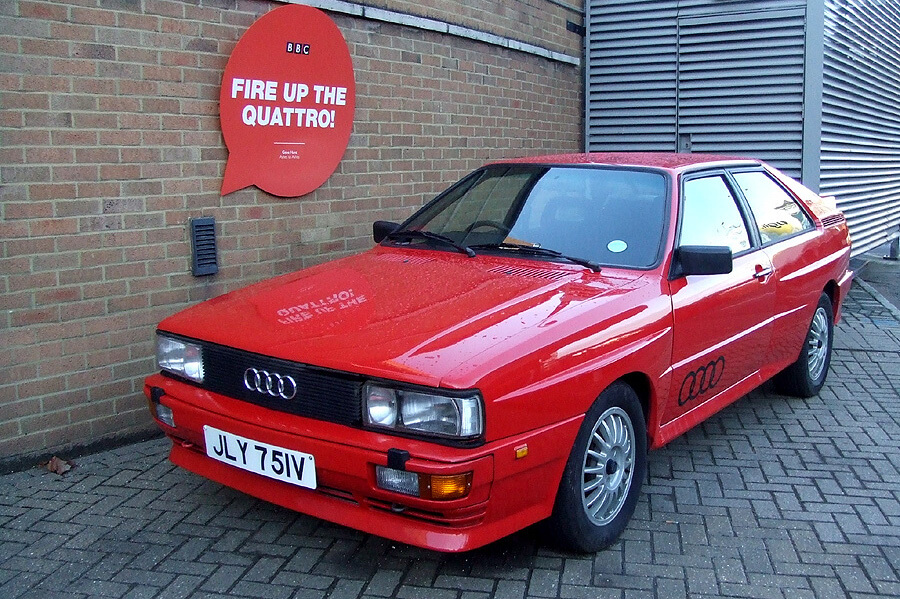 The Audi Quattro used in Ashes to Ashes at the BBC