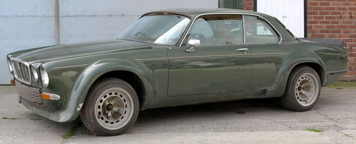 The Broadspeed Jaguar XJ used in The Avengers before it was sold at auction
