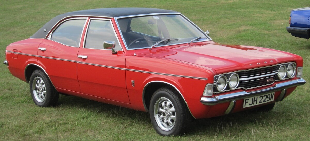 Ford Cortina Mk3 GXL similar to the one used in Life on Mars